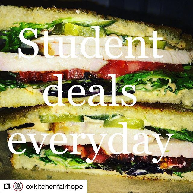 Can't beat this. Students get a free side or drink w purchase of salad or sandwich, everyday at the Ox! #studentdeals #coastalalabamacollege #fairhopehighschool
