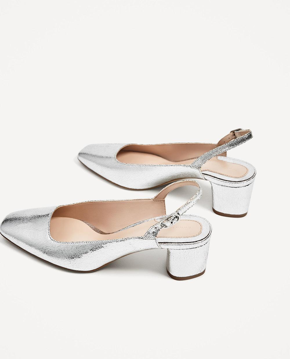 Placerea de a purta pantofi de tip slingback (cu bareta la spate) cred ca mi s-a inoculat in copilarie. Sunt incaltari de Madame par excellence. Incerci perechea  aceasta  de la Zara?