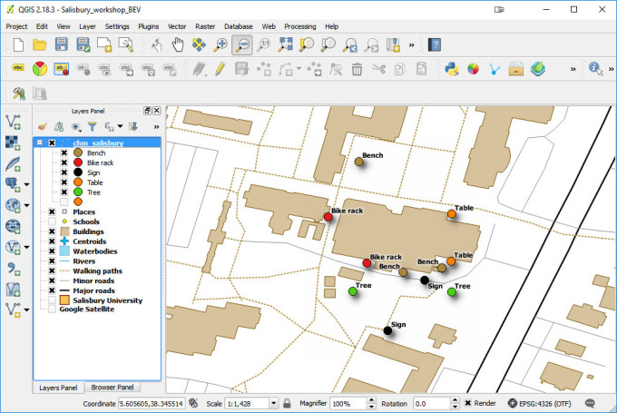 Salisbury University Data Collection in QGIS