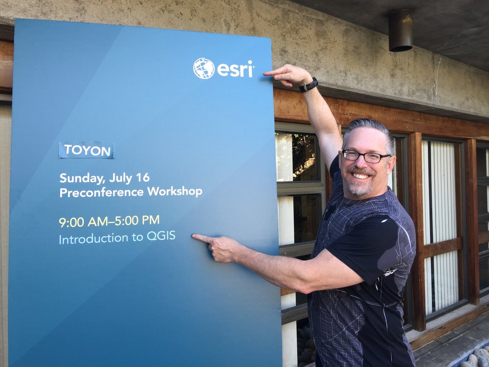 A QGIS workshop at an Esri sponsored conference?!