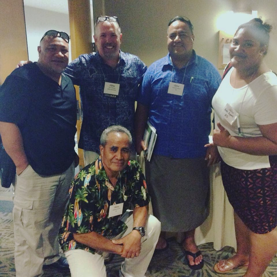 Farewell shot with my new friends from American Samoa