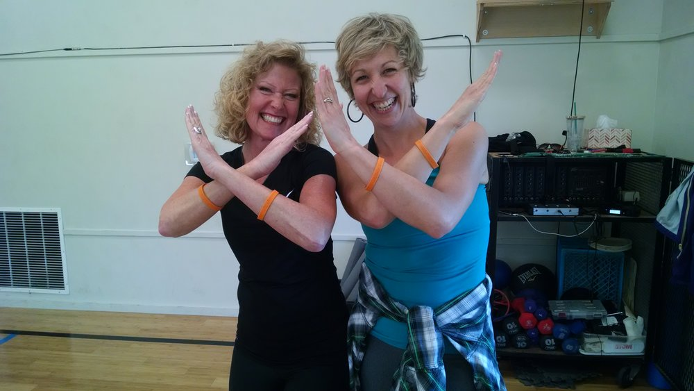 Duncan with RAPRD dance fitness instructor Heather Olson