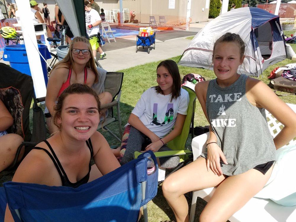 Redmond Girls Mackenzie Carlson, 18; Annabelle Crispen, 14, Sage Russell, 14, and Caitlyn Owen, 14.