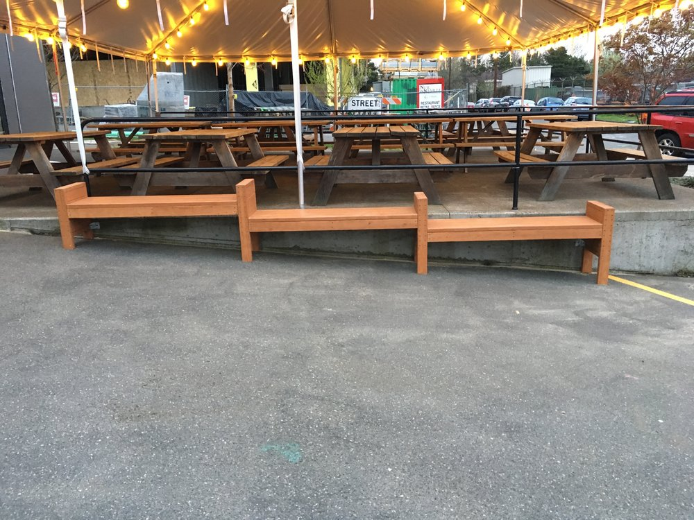 Custom waiting area benches