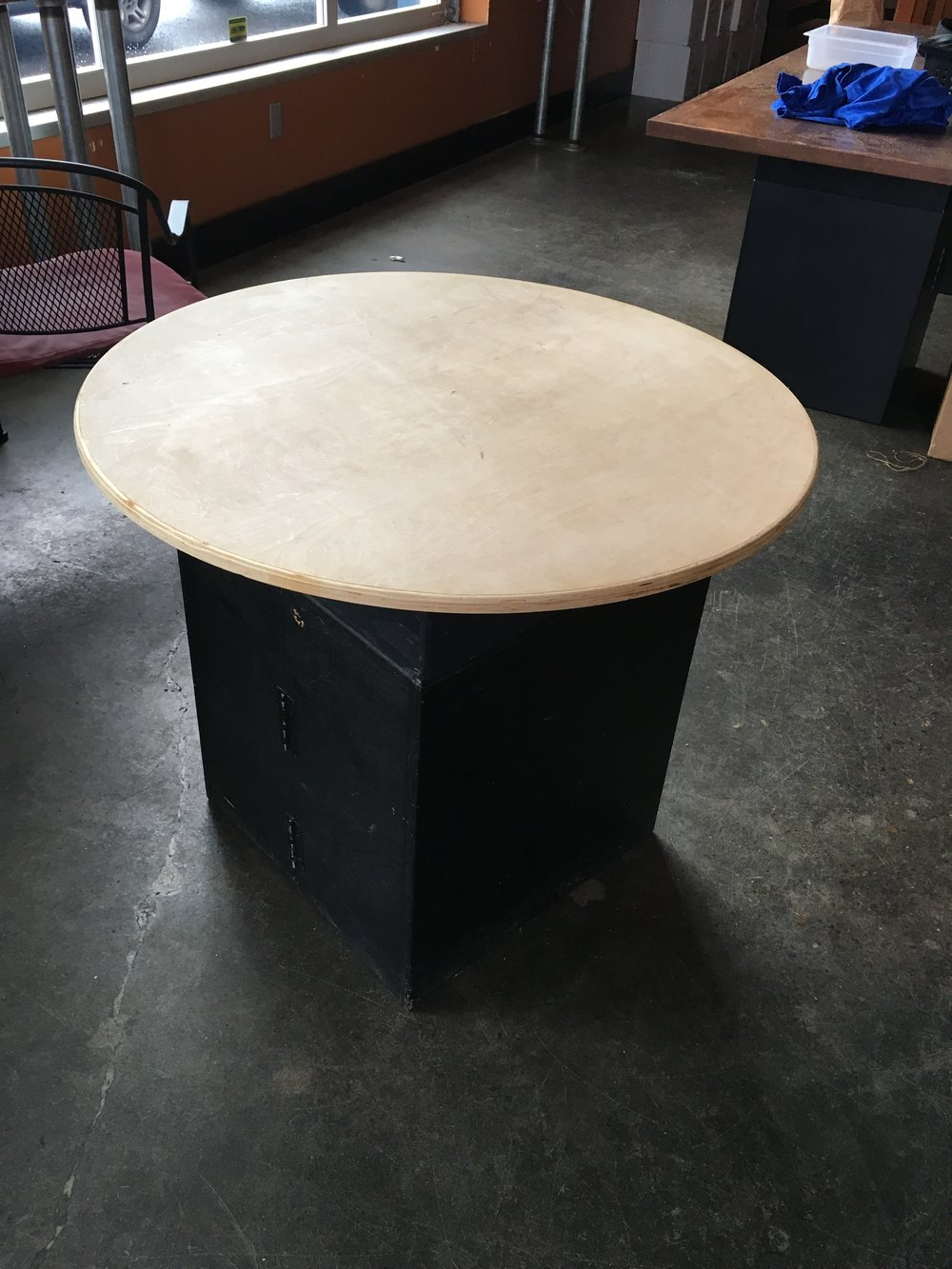 Collapsible table and base