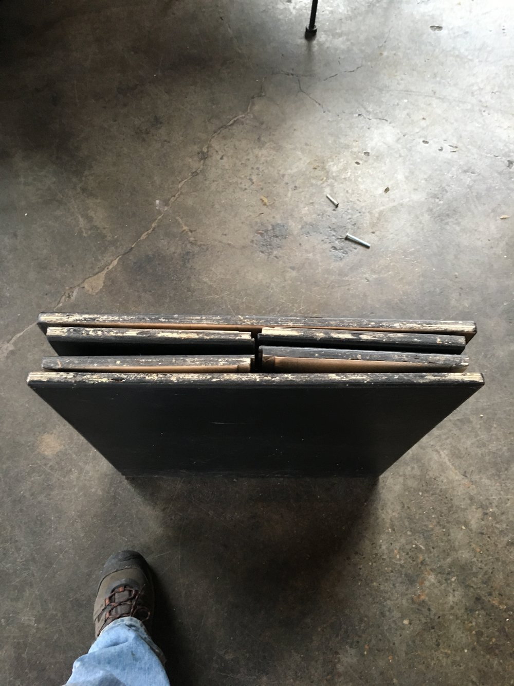 Table base completely collapsed