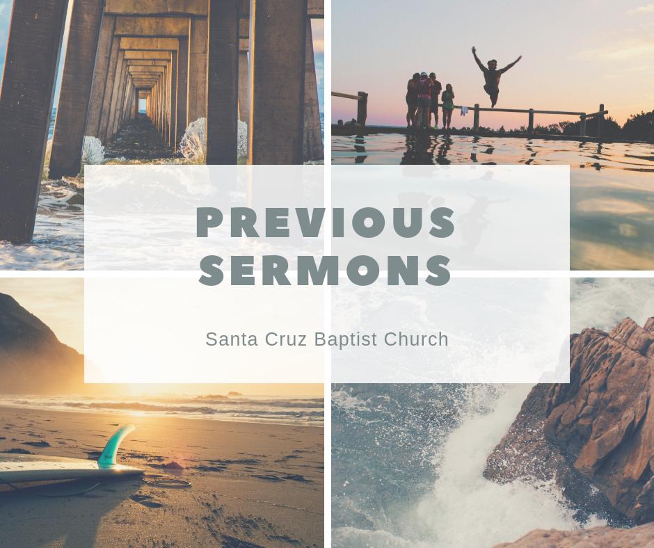 January-October 2018 - Previous Sermon Series