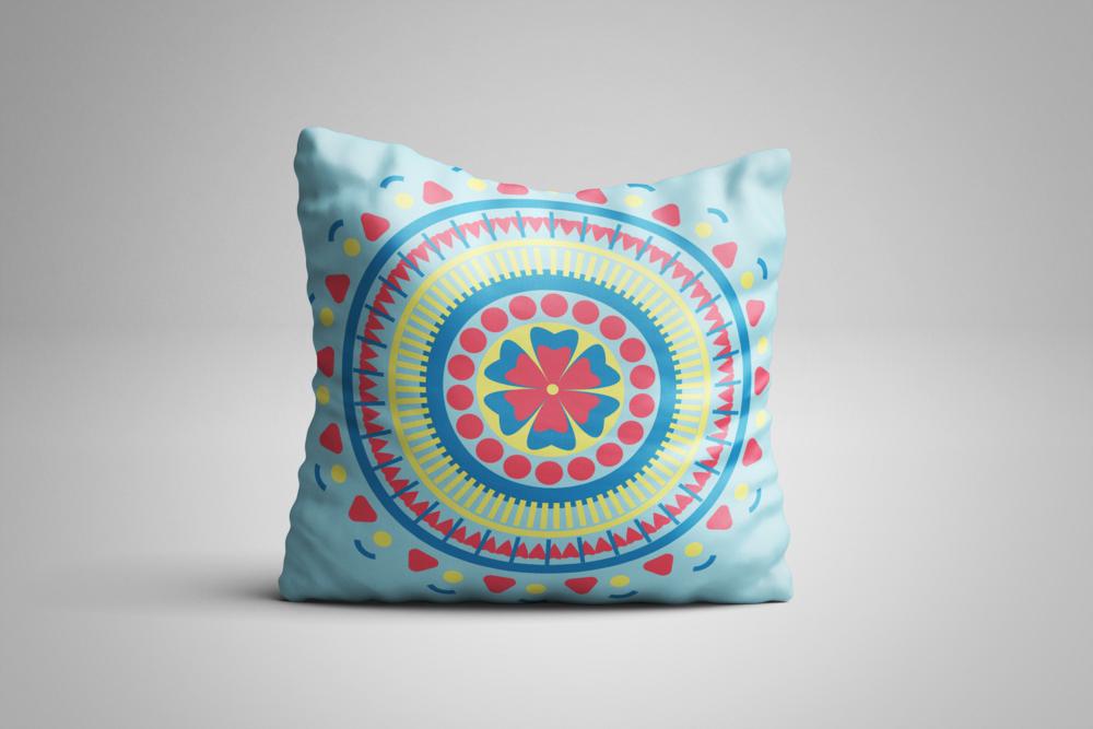 Mandala Pillow Blue red yellow.png