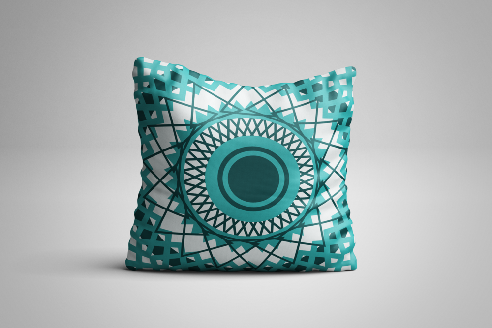Turquoise Square Pillow.png