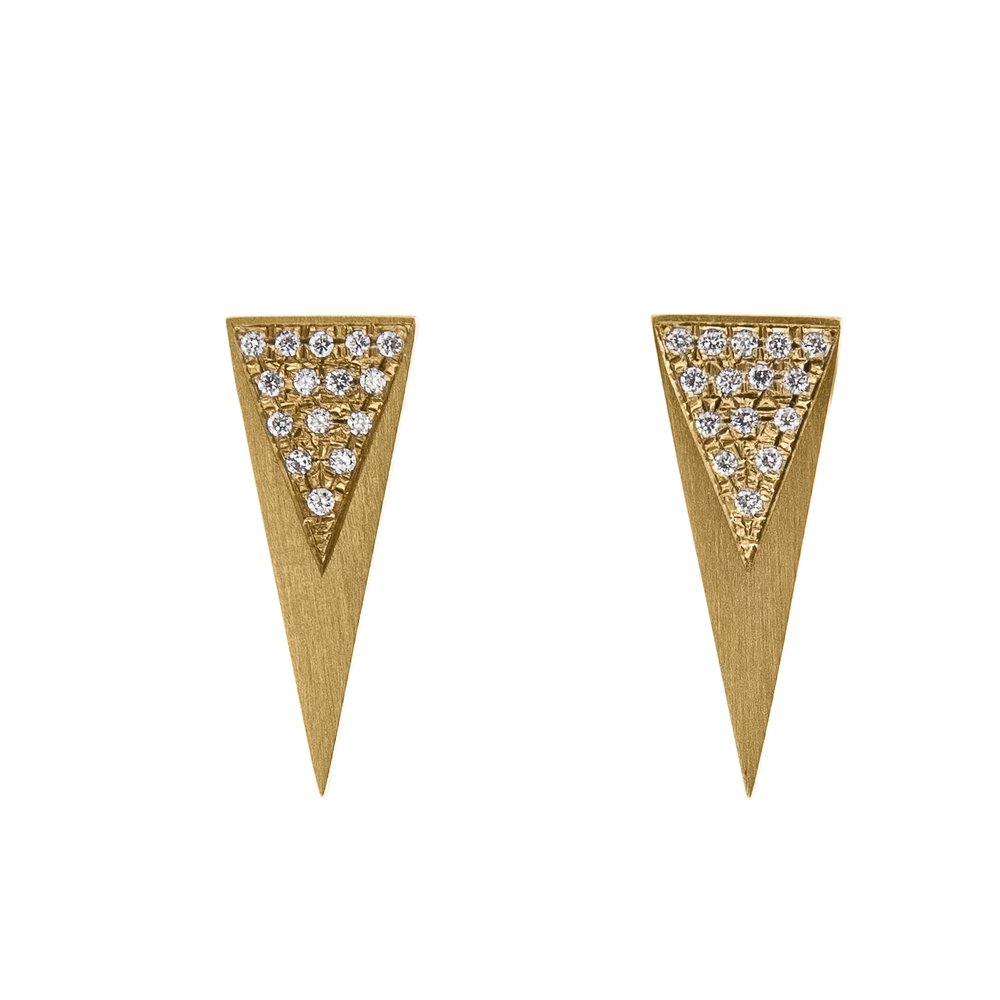 One of the first pieces Halleh designed are these 'Stretch Diamond Studs'