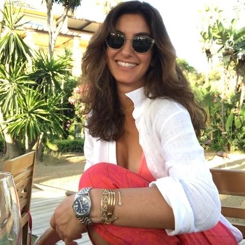 Halleh in her favorite vacation spot, her summer home in Marbella