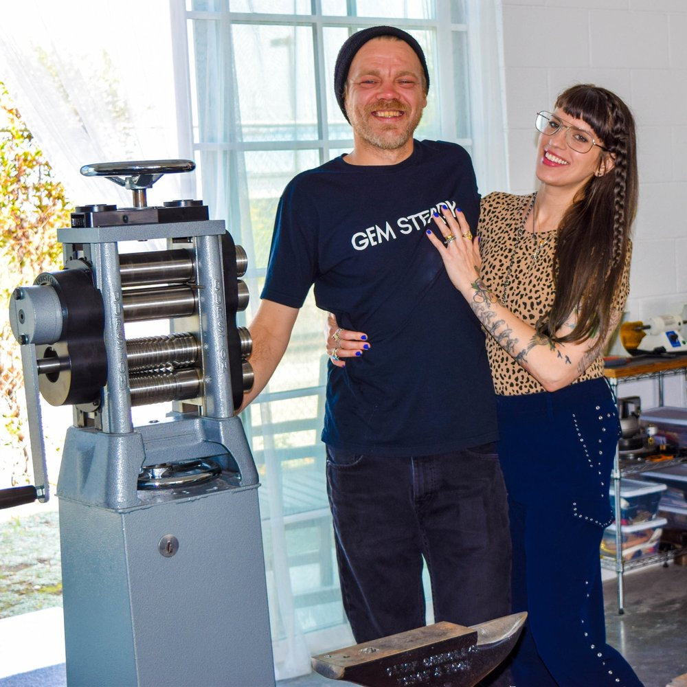 Brittany and Bobby in their studio