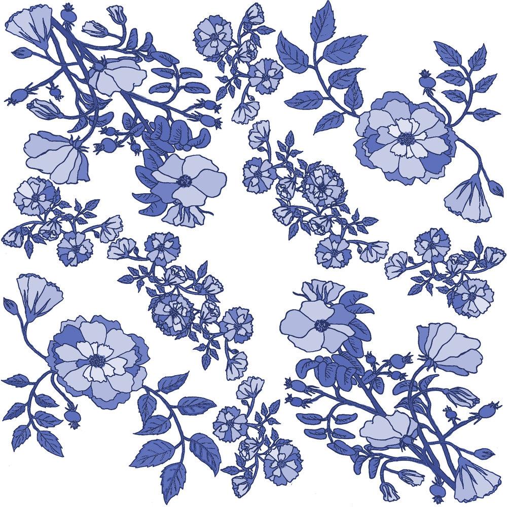 Rose pattern section blue china.jpg