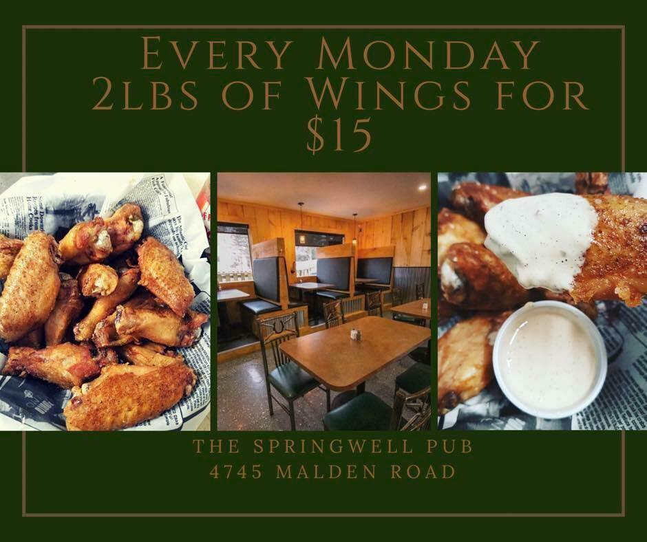Monday - 2lbs of Wings