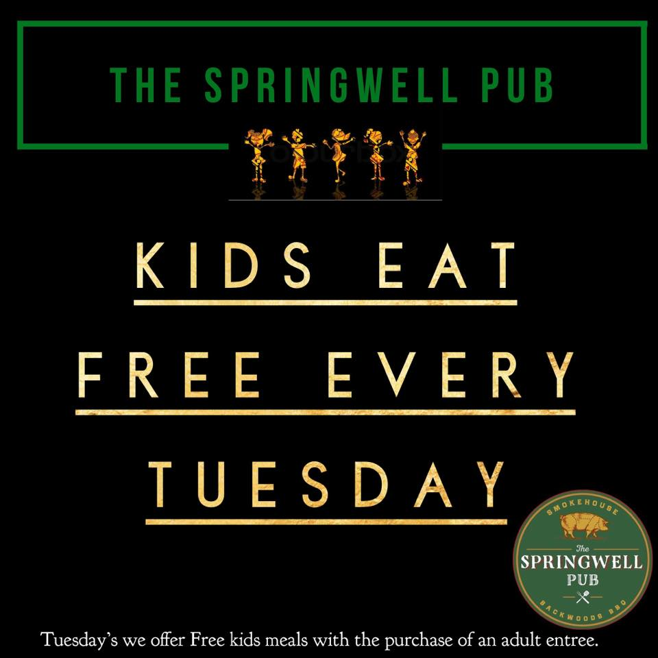 Tuesday - Kids Eat Freew/ the purchase of an adult entree