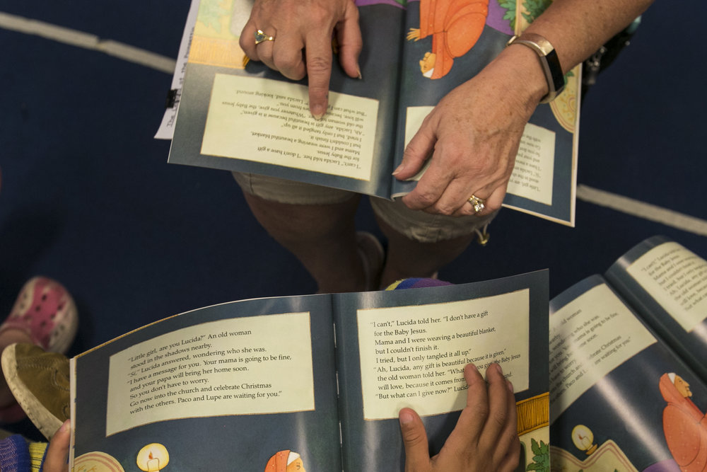Beth Intondi reads books for children from first through third grades.