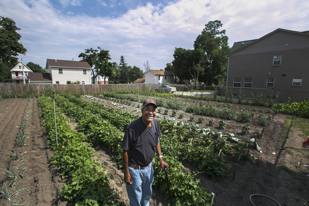 The inaugural East Side Garden Walk, from 10 a.m. to 3 p.m. Saturday, July 21, 2018, will include Cecil Collins' vegetable garden on Maple Street. He shares the vegetables from his garden with his neighbors.