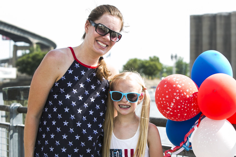 Janelle Field and her 10 year-old daughter Taylor celebrate Independence Day.