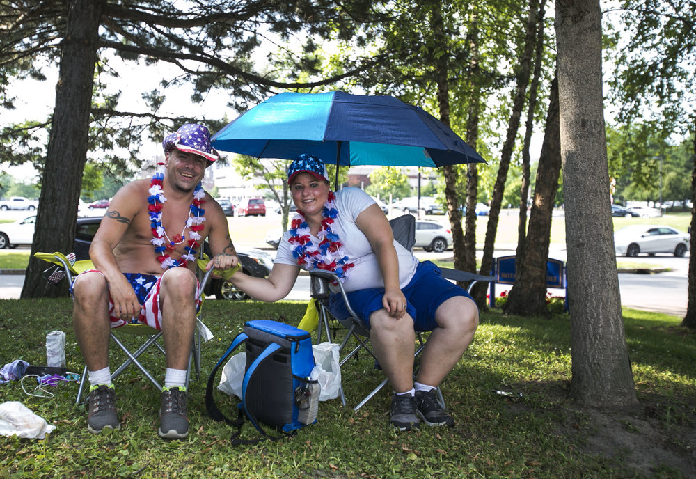Donald and Manda Greenough celebrate Independence Day with decorations on.