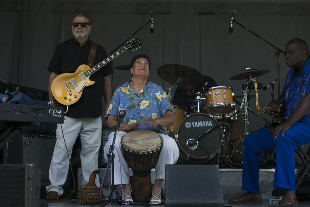 Musicians at the festival.