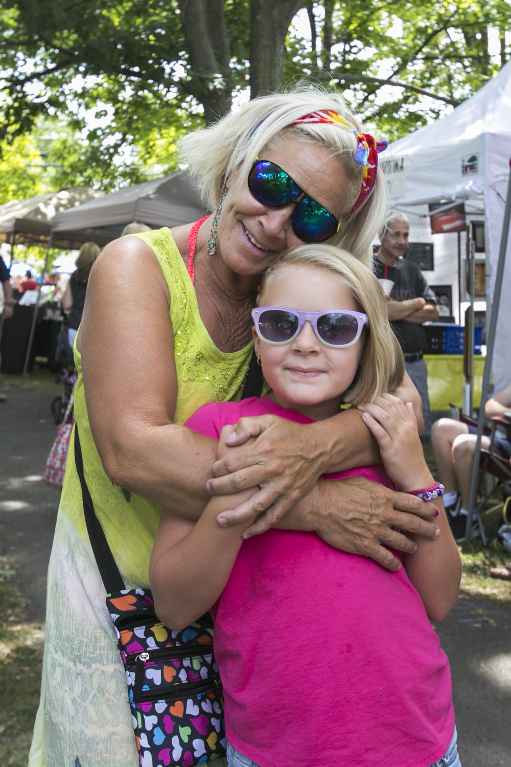 Nancy Bryce and her 8 year-old granddaughter Zoe enjoy their time at the festival.