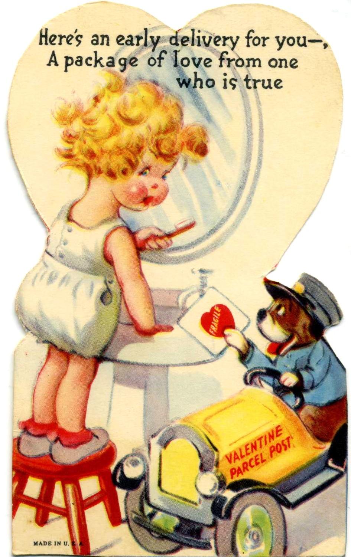 1940s Valentine saved in my baby book.
