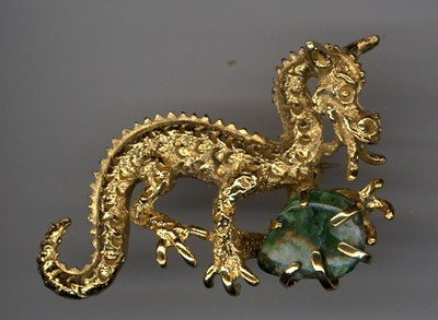 I wore this BSK dragon pin in the mid 1950s.  BSK was a popular brand of the 1950s.