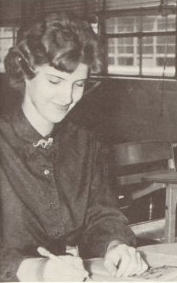 Here I am wearing the dragon pin in the 1961 yearbook