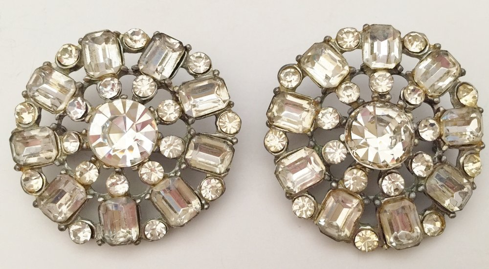 Two beautiful rhinestone brooches that belonged to my grandmother and then to my mother. I was told they were Eisenberg Ice.