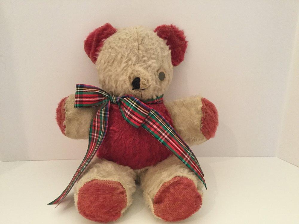 My well-loved teddy bear today