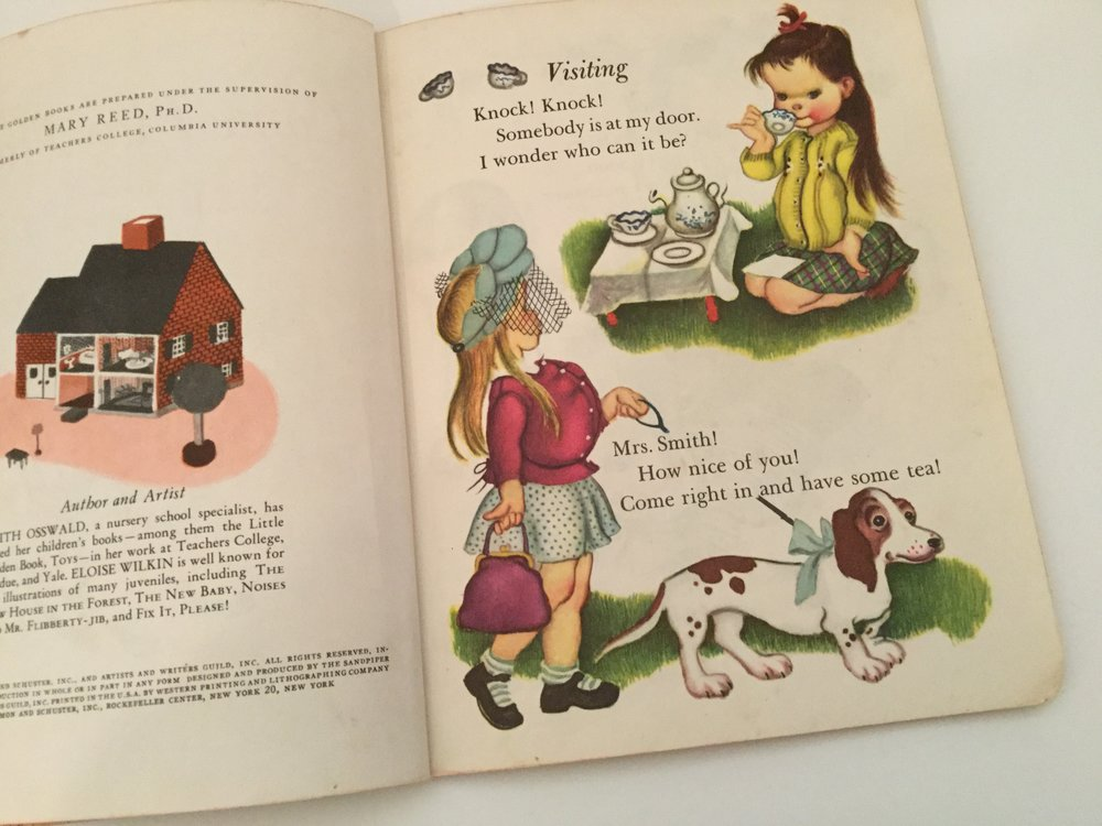 An illustration by Eloise Wilkin from Come Play House