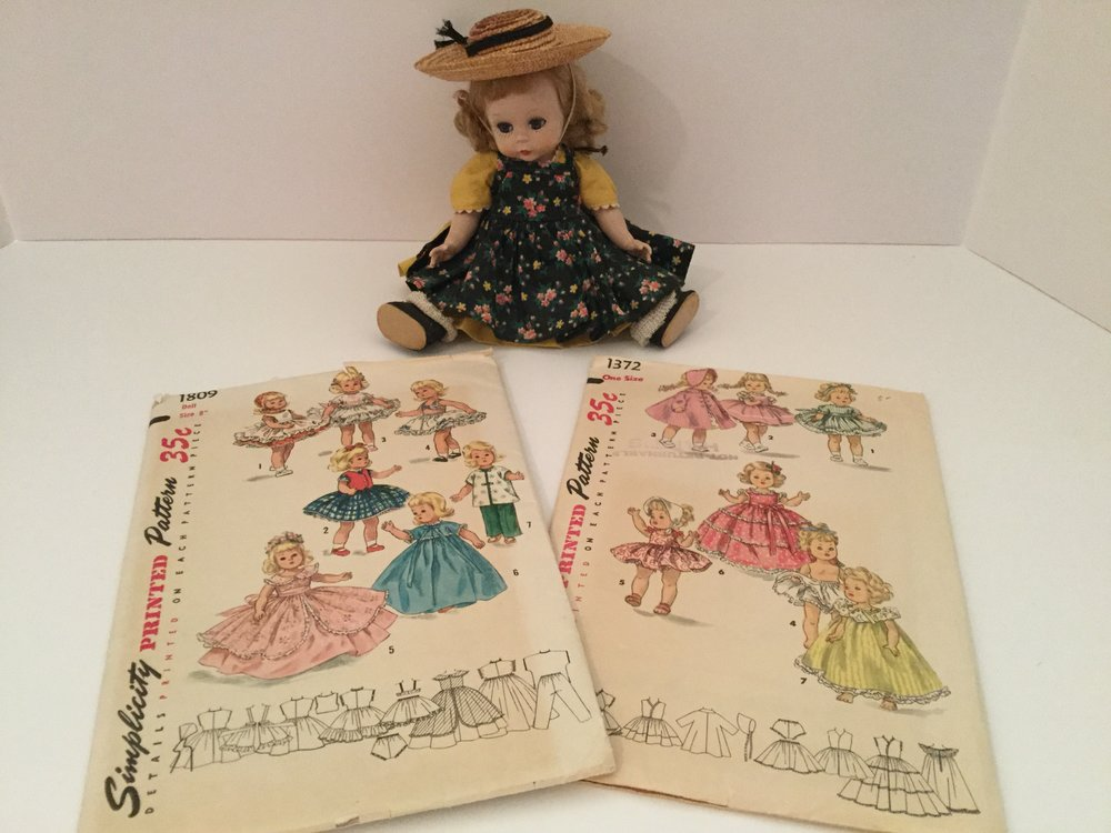I did not make clothes for Wendy but have collected two vintage uncut patterns ...just in case.