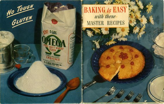 1940s ... Baking is Easy with These Master Recipes ... Omega Flour Mills ... how to make homemade basic baking mixes (somewhat like Bisquik)