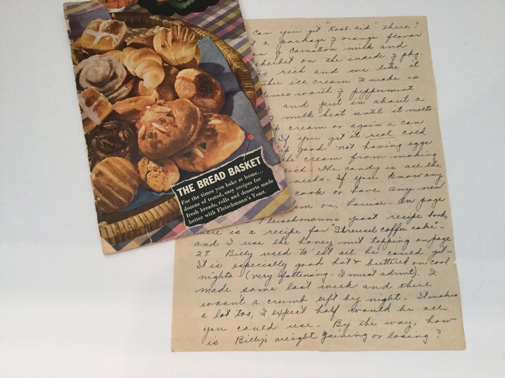 The booklet and the letter from my paternal grandmother to my mother, 1942
