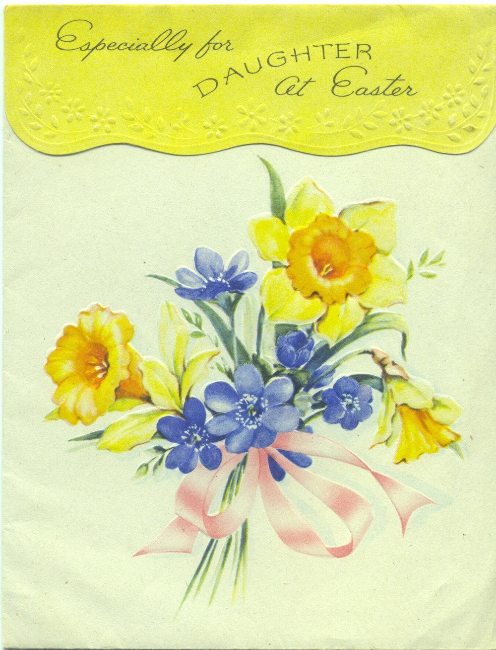 Vintage 1942 Golden Bell Greeting Card from my maternal grandparents to their daughter and new son-law (my parents)