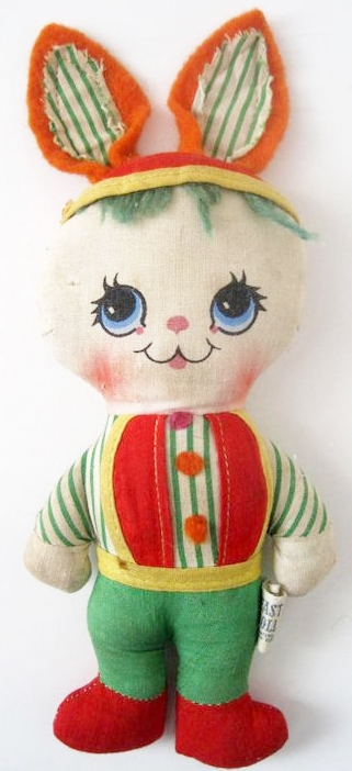 Lisa's small vintage stuffed bunny