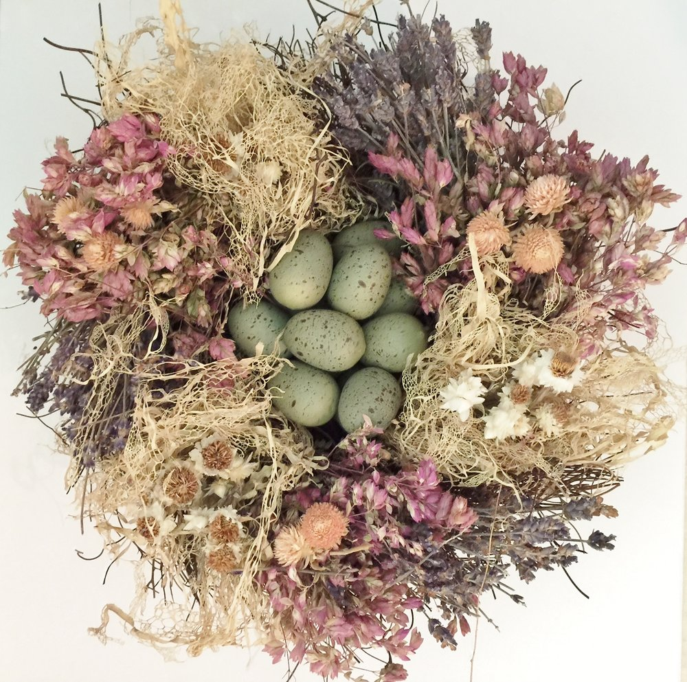 Williams Sonoma bird nest Easter arrangement ... I have had it several years