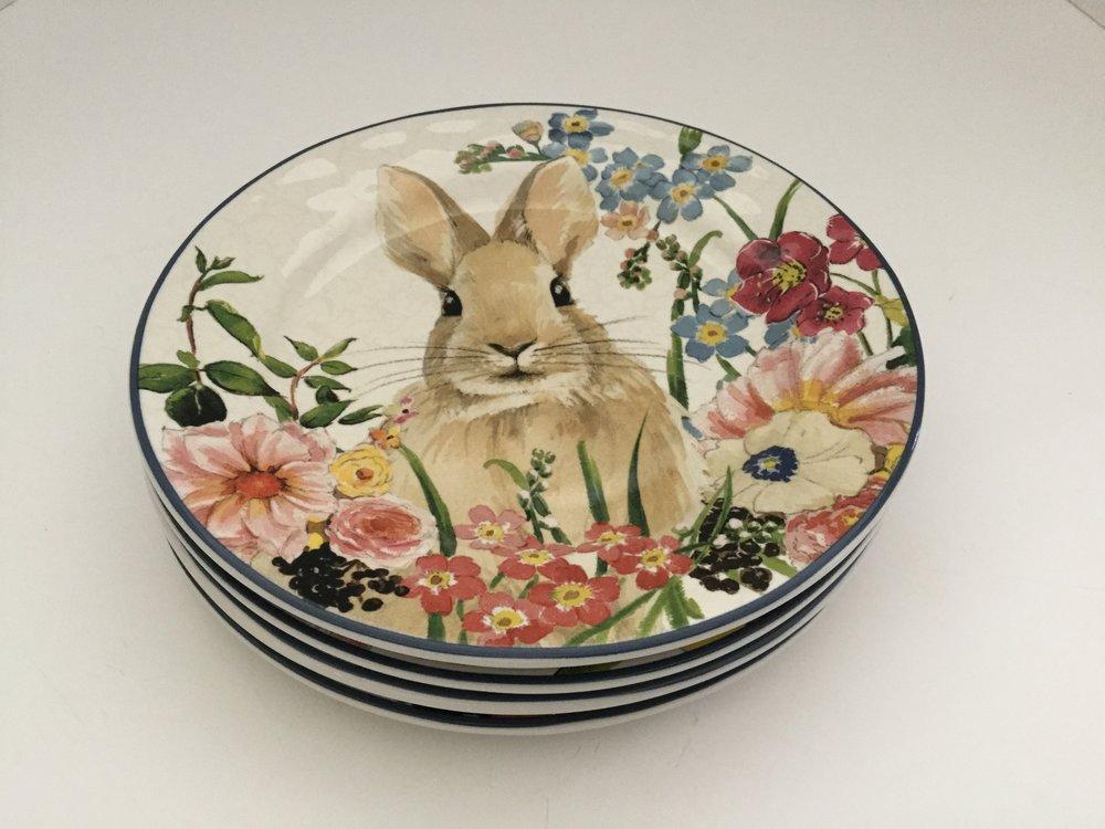 Pottery Barn bunny plates