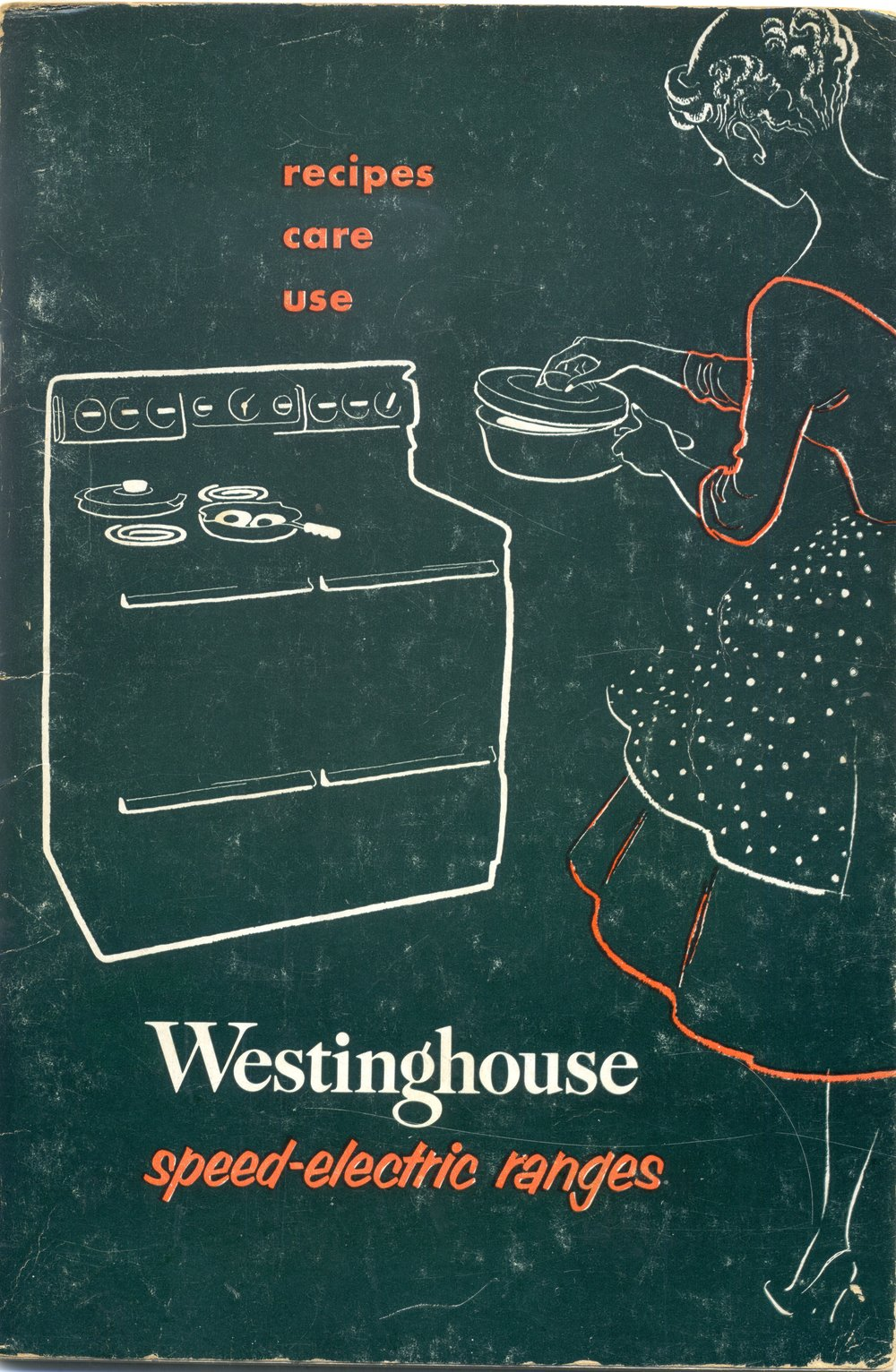 1954 Westinghouse electric range booklet