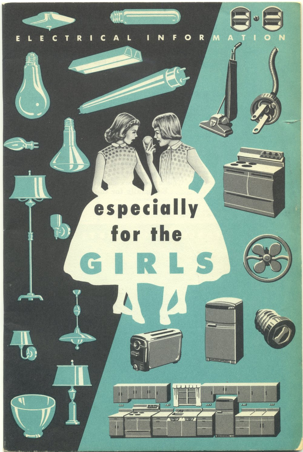 1957 Westinghouse booklet with special electrical information for the girls!