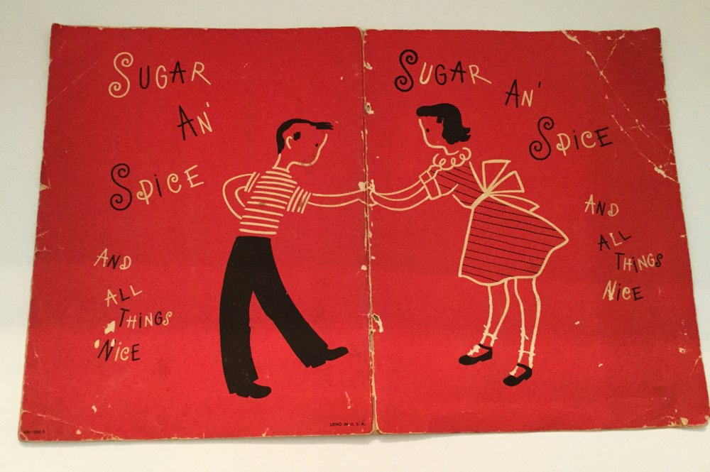 Sugar and Spice and All Things Nice, 1951 ... a cute how to cook booklet for children, boys and girls