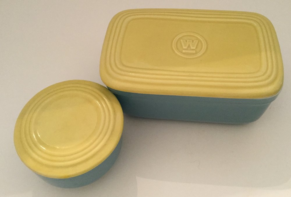 My two refrigerator dishes ... Westinghouse logo on large lid