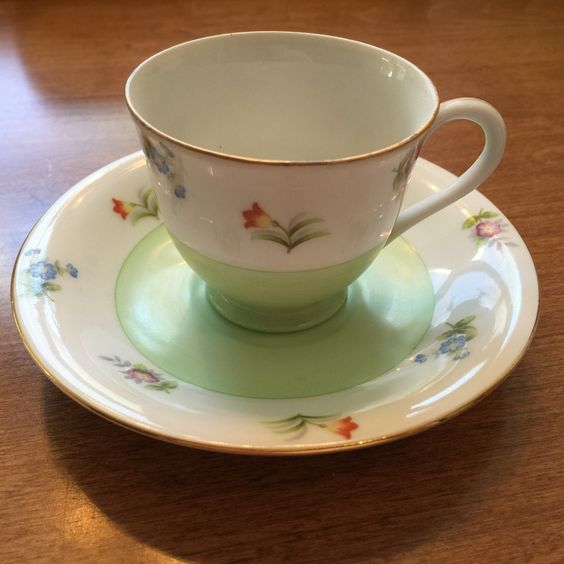 Gold China occupied Japan demitasse cup and saucer
