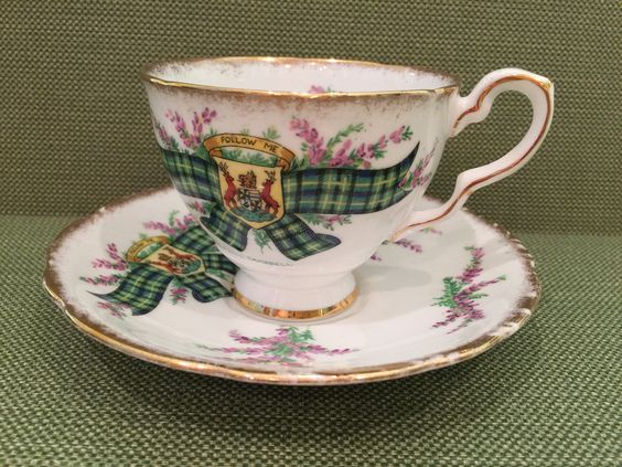 Royal Stafford China Tartan series cup and saucer ... made in England