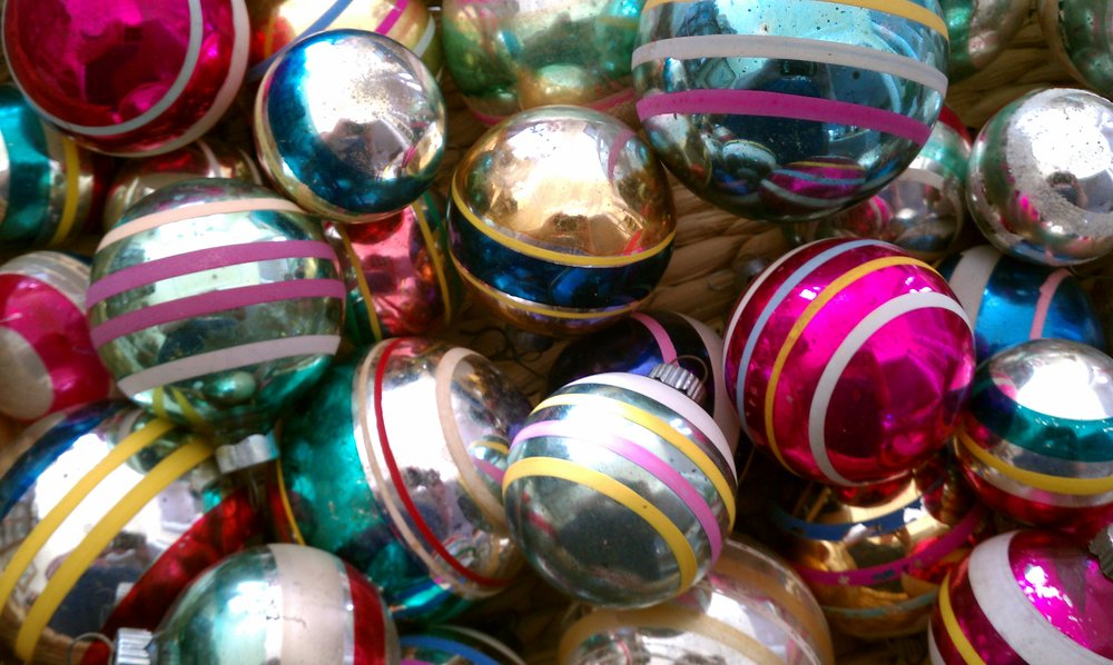 Vintage Striped Ornaments #2