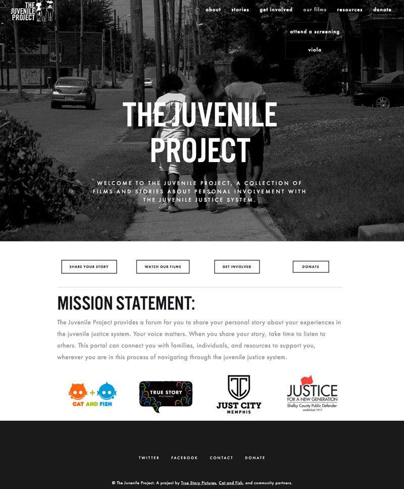 Memphis website Design by Se2m - The Juvenile Project
