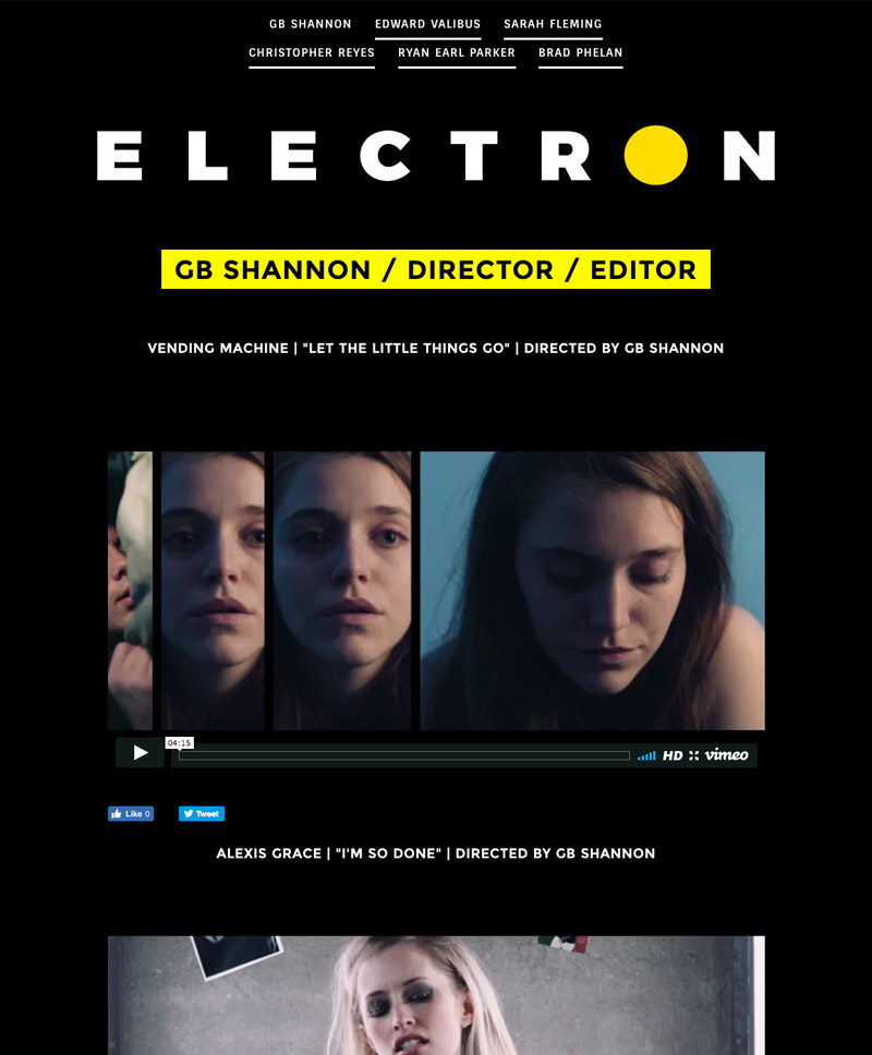 Electron Music Video Directors