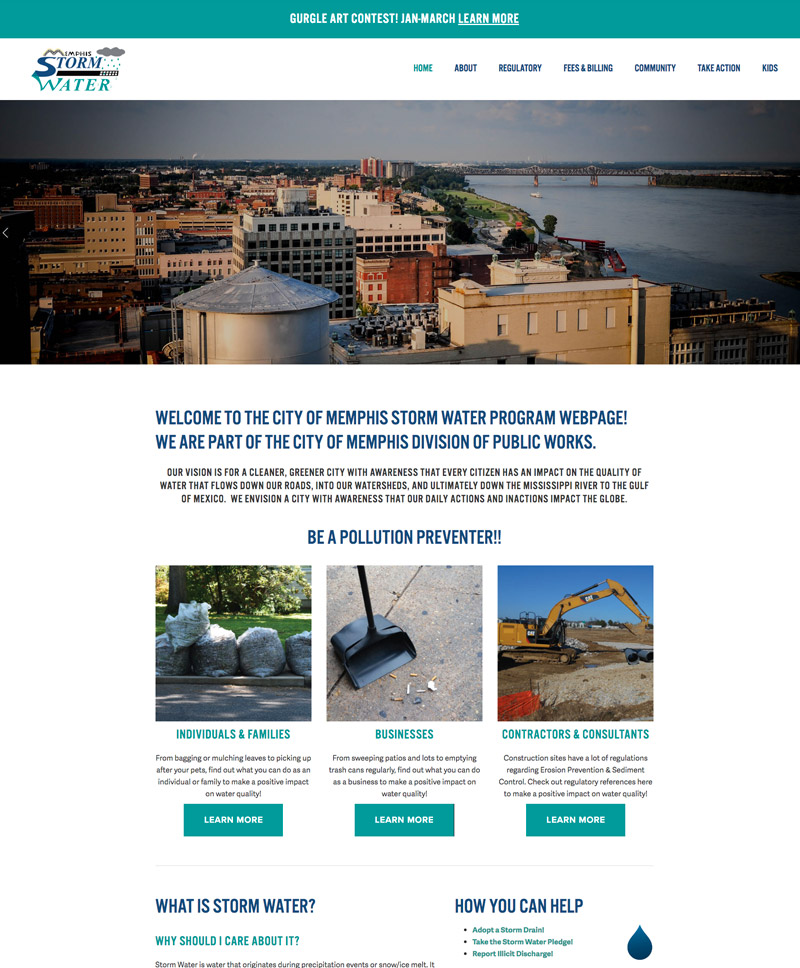 Memphis Storm Water - se2m website design