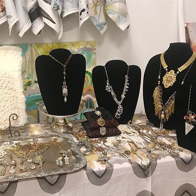 More 😍😍from @windyoconnorart in @campnorthend • • • • • • • #catiques #vintagejewelry #vintage #jewelry #flashesofdelight #ootd #pursuepretty #oneofakind #flashesofdelight #thatsdarling #jewelrydesign #statementjewelry #accessories #dscollections #theeverygirl #jewelryaddict #outfitinspiration #abmlifeisbeautiful #ernieandirene #hpadc #windyoconnorart  #dscolor #momentsofchic #smploves  #handmadejewelry #finditstyleit #mistletoe market #fashion #trends #campnorthend