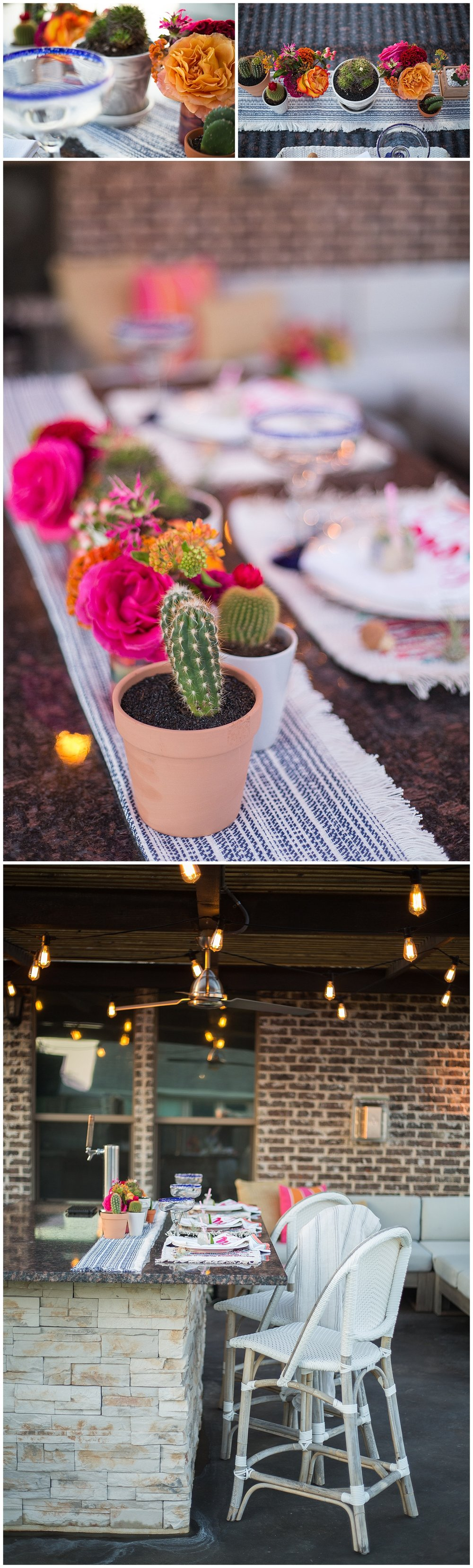 Patio-decor-with-bright-colors-and-cactuses